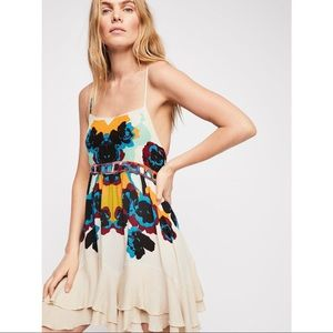 Free People Tan Magnolia Sweet Lucy Slip Dress XS